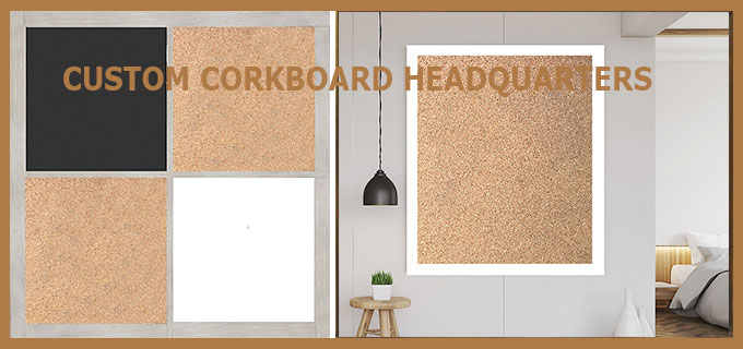 Custom cork bulletin board headquarters - shop natural self-healing cork boards by frame color, style, size - guaranteed safe delivery